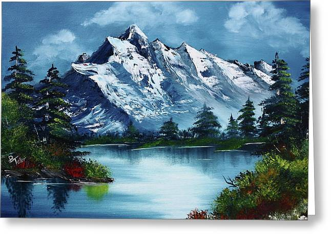 Bob Ross Paintings Greeting Cards - Take A Breath Greeting Card by Barbara Teller