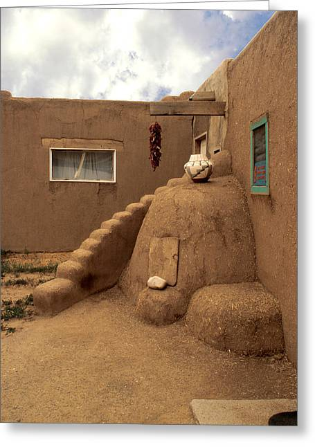 Taos Photographs Greeting Cards - Taos Pueblo Greeting Card by Jerry McElroy