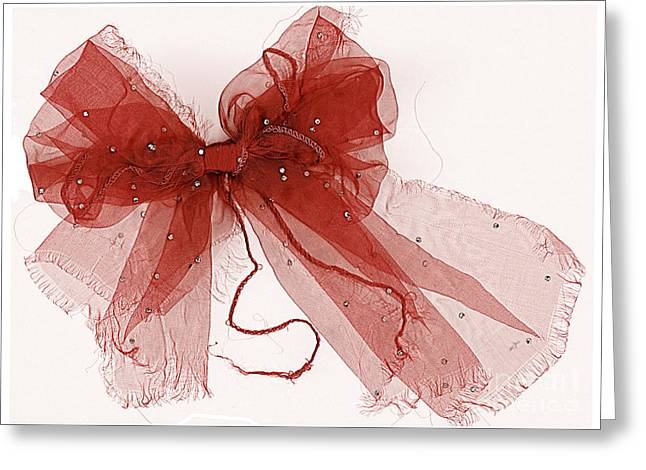 Fraying Greeting Cards - Tattered Red Greeting Card by Dolly Mohr