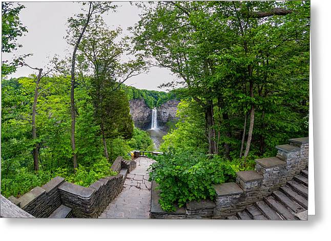 Geology Photographs Greeting Cards - Taughannock Falls 4 Greeting Card by Steve Harrington