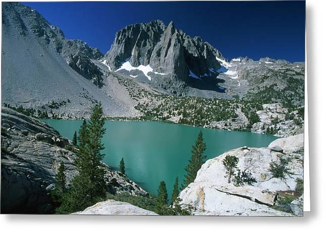 Temple Crag And Second Lake Greeting Card by Soli Deo Gloria Wilderness And Wildlife Photography