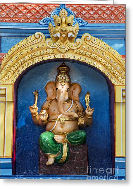 Ganapati Greeting Cards - Temple Ganesha Greeting Card by Tim Gainey