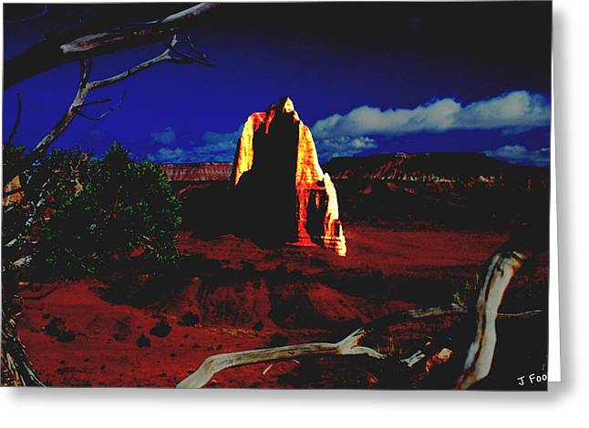 Temple Of The Moon 2 Greeting Card by John Foote