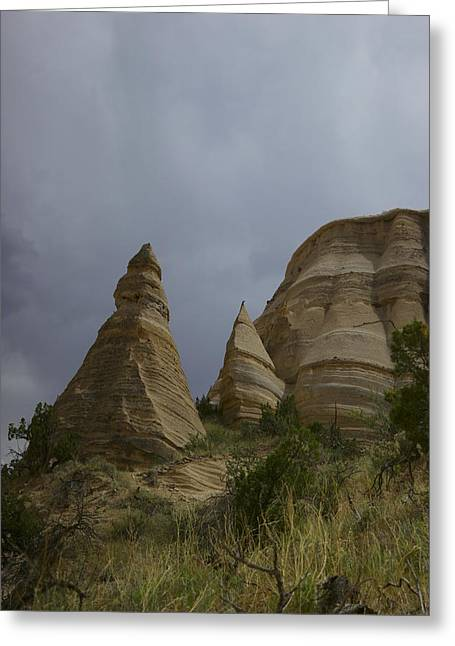 Prospects Greeting Cards - Tent rocks Greeting Card by Jeff  Swan