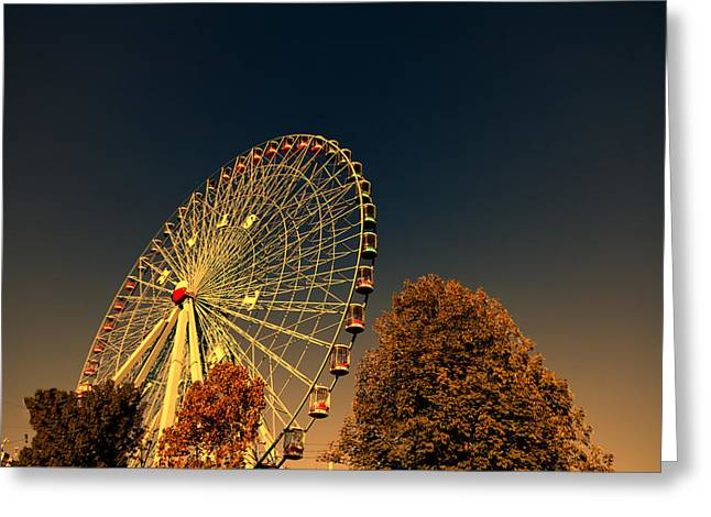 State Fairs Greeting Cards - Texas Star Ferris Wheel Greeting Card by Douglas Barnard