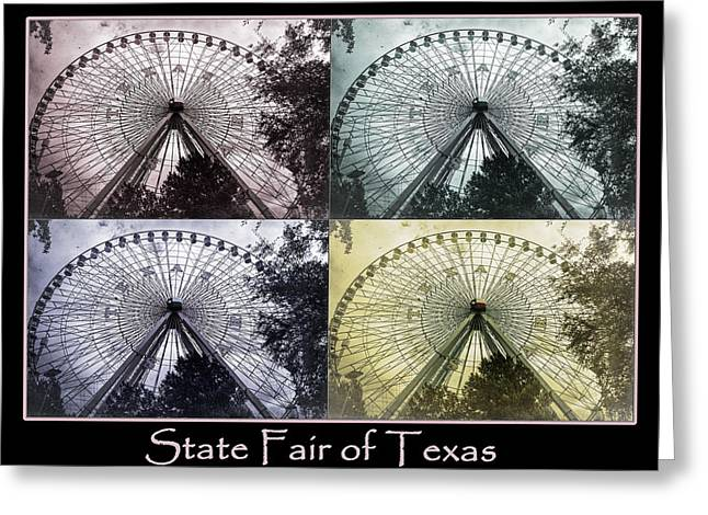 Spokes Greeting Cards - Texas Star Poster Greeting Card by Joan Carroll