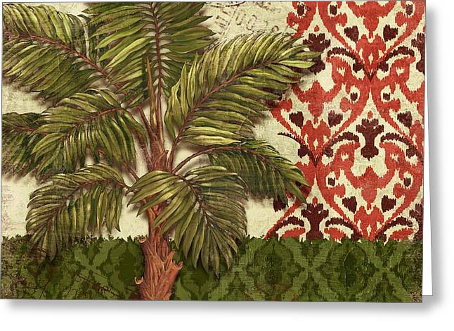 """tropical Trees"" Greeting Cards - Thai Palm II Greeting Card by Paul Brent"