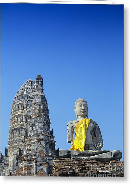 Ayuthaya Greeting Cards - Thailand, Ayathaya Greeting Card by Gloria & Richard Maschmeyer - Printscapes
