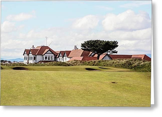 The 18th At Portmarnock Greeting Card by Scott Pellegrin