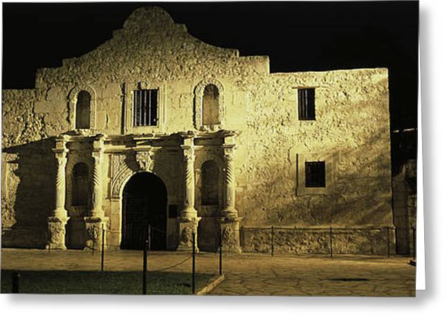 West Tx Greeting Cards - The Alamo San Antonio Tx Greeting Card by Panoramic Images
