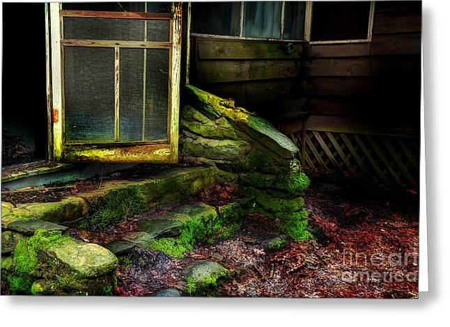 The Back Door Greeting Card by Michael Eingle