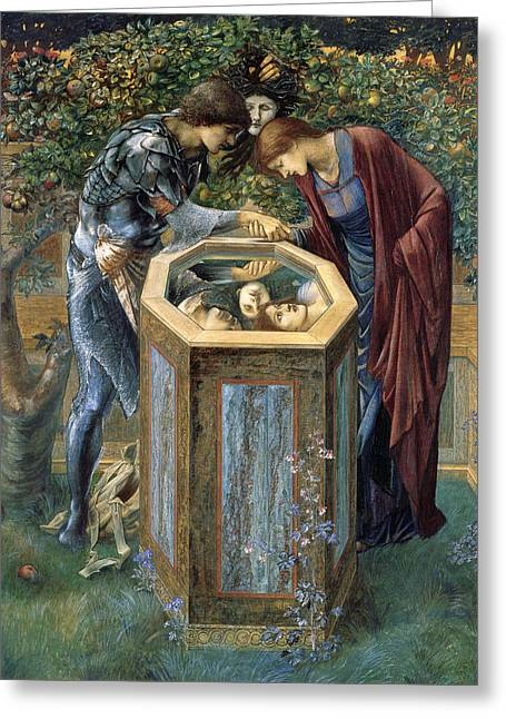 Medusa Paintings Greeting Cards - The Baleful Head Greeting Card by Edward Burne-Jones