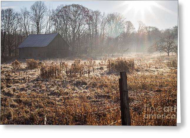 The Barn Next Door 2 Greeting Card by Marj Dubeau
