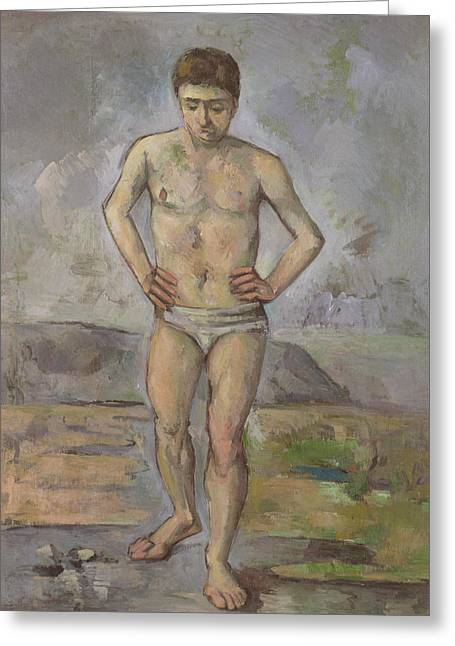 The Bather Greeting Card by Paul Cezanne