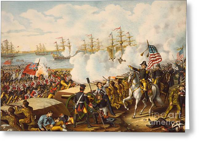 The Battle Of New Orleans Greeting Card by American School