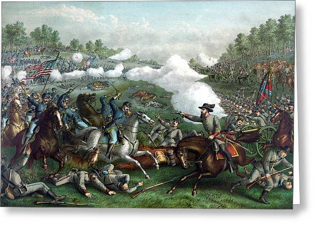 Confederate Greeting Cards - The Battle of Winchester Greeting Card by War Is Hell Store