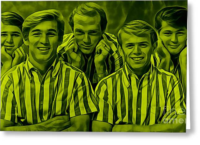 Boys Greeting Cards - The Beach Boys Collection Greeting Card by Marvin Blaine