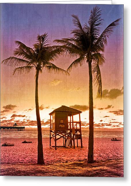Hobe Sound Greeting Cards - The Beach Greeting Card by Debra and Dave Vanderlaan