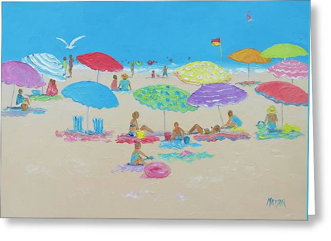 Beach Cottage Style Greeting Cards - The Beach Greeting Card by Jan Matson