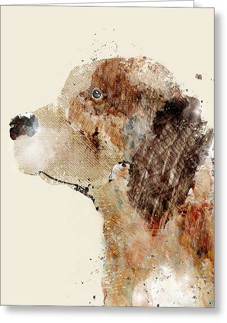 Beagle Prints Greeting Cards - The Beagle Greeting Card by Bri Buckley