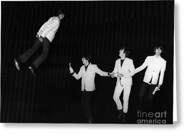 Starkey Greeting Cards - The Beatles, 1964 Greeting Card by Granger