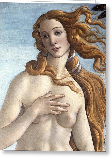Redhead Greeting Cards - The Birth of Venus Greeting Card by Sandro Botticelli