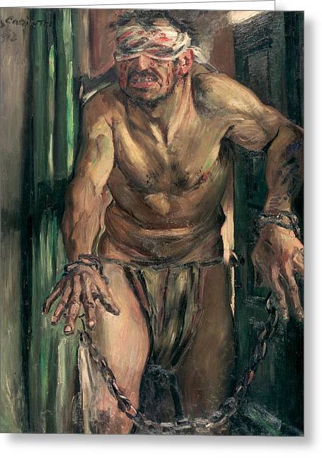 The Blinded Samson Greeting Card by Lovis Corinth