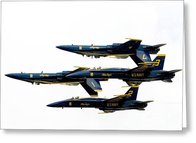 U.s. Marine Corps Greeting Cards - the Blue Angels  Greeting Card by Celestial Images