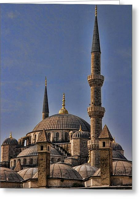 Historic Site Greeting Cards - The Blue Mosque in Istanbul Turkey Greeting Card by David Smith