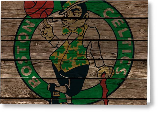 The Boston Celtics 1e Greeting Card by Brian Reaves