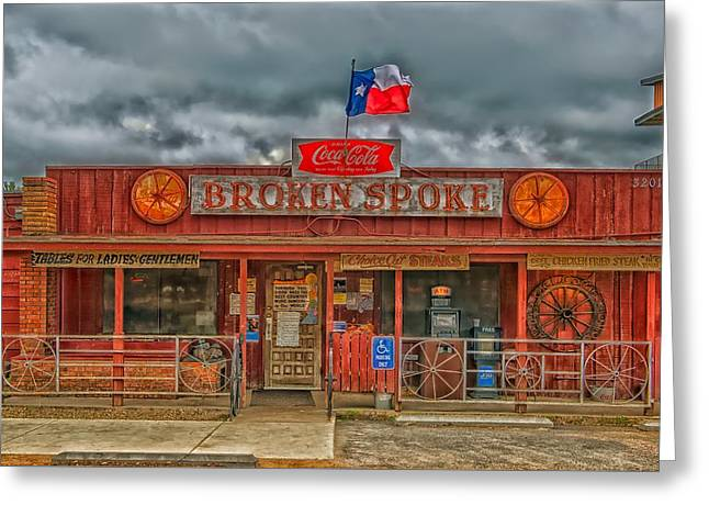 The Broken Spoke Greeting Card by Mountain Dreams