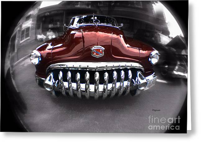 American Automobiles Digital Greeting Cards - The Buick Eight  Greeting Card by Steven  Digman