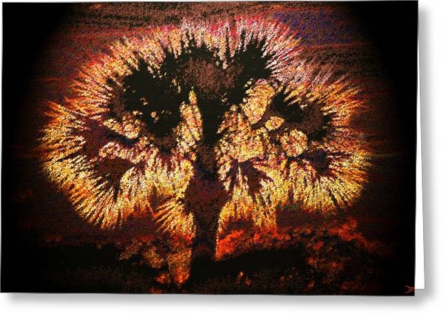 Religious Digital Greeting Cards - The Burning Bush Greeting Card by David Lee Thompson