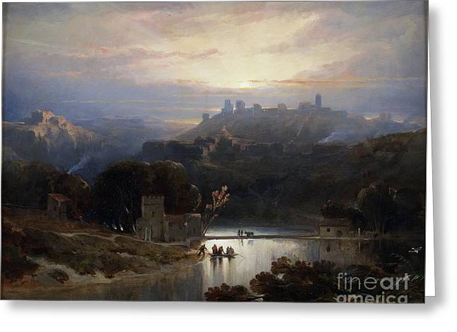 1833 Greeting Cards - The Castle of Alcala de Guadaira  Greeting Card by David Roberts