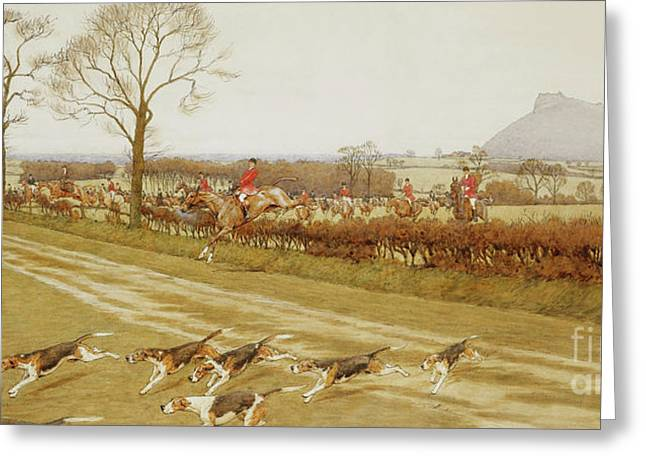 The Cheshire - Away From Tattenhall Greeting Card by Cecil Charles Windsor Aldin