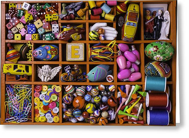 Compartments Greeting Cards - The Collection Greeting Card by Garry Gay