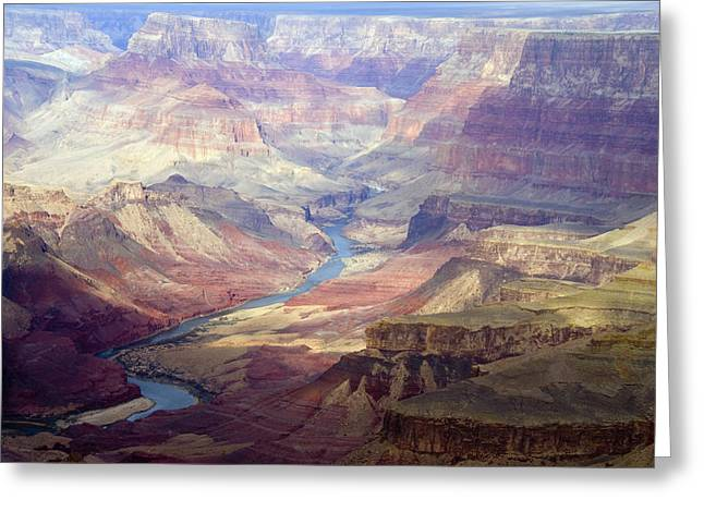 High Angle Greeting Cards - The Colorado River And The Grand Canyon Greeting Card by Annie Griffiths