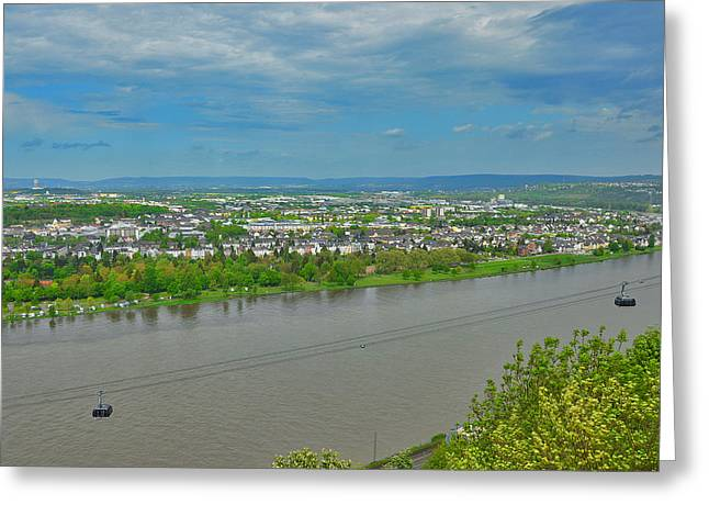 Passiflora Digital Art Greeting Cards - The Confluence Of Two Rivers. Moselle And Rhine. Greeting Card by Andy Za