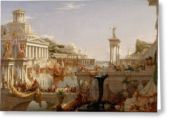 Ancient People Greeting Cards - The Consummation of Empire Greeting Card by Thomas Cole