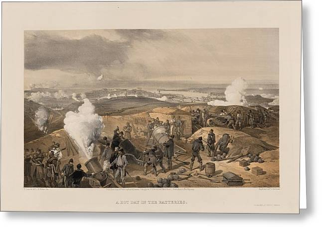 The Battery Greeting Cards - The Crimean War Greeting Card by Celestial Images