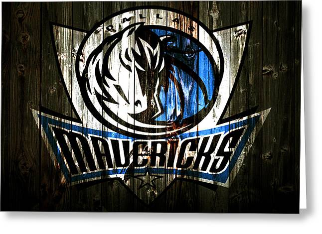 The Dallas Mavericks 2c Greeting Card by Brian Reaves