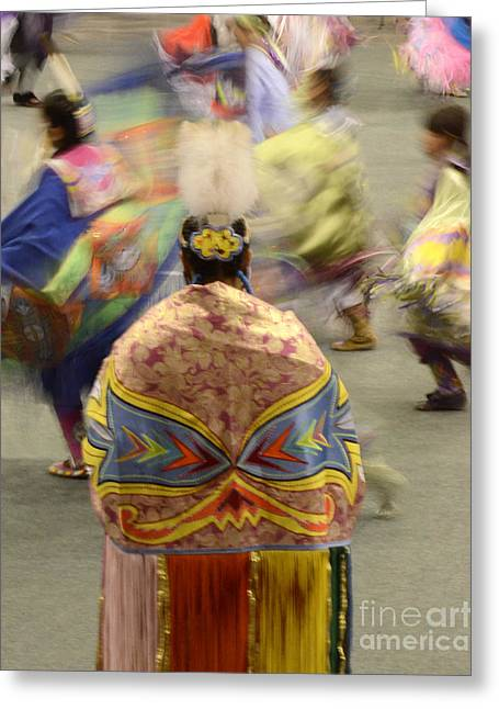 Fancy-dancer Greeting Cards - Pow Wow The Dance 4 Greeting Card by Bob Christopher