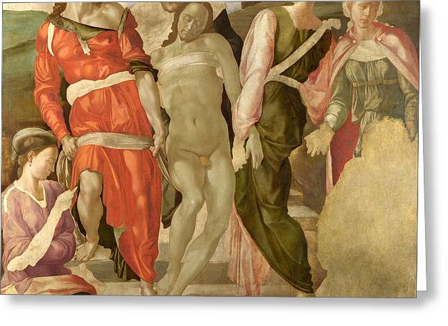 The Entombment Greeting Card by Michelangelo Buonarroti