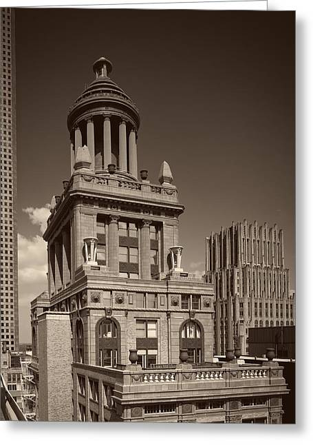 Niel Greeting Cards - The Esperson Building - Houston Texas Greeting Card by Mountain Dreams
