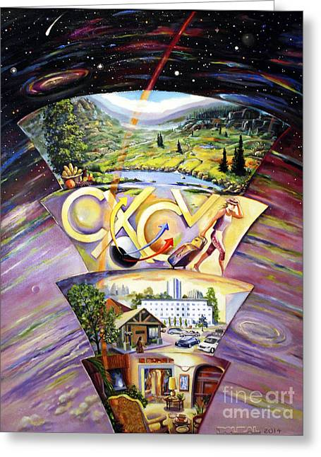 The Essence Of Energy Greeting Card by Alfred Dolezal