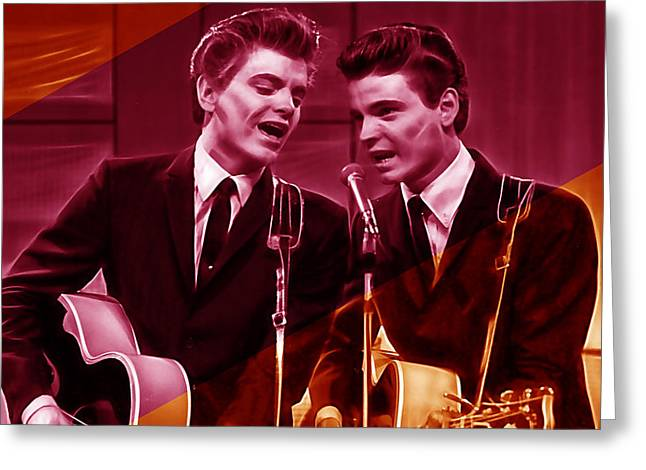 Country Music Greeting Cards - The Everly Brothers Collection Greeting Card by Marvin Blaine