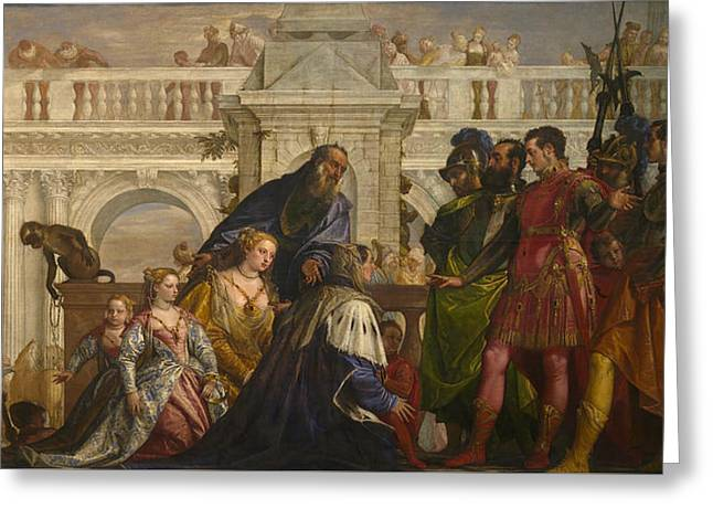 The Family Of Darius Before Alexander Greeting Card by Paolo Veronese