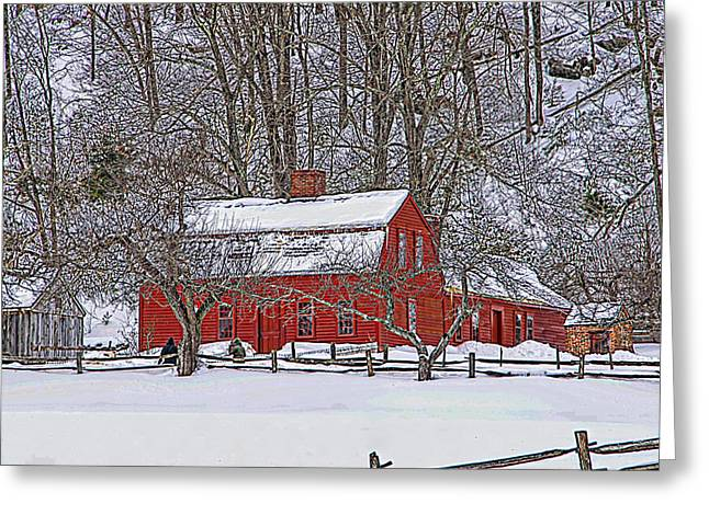 Historic Site Mixed Media Greeting Cards - The Farm House Greeting Card by Douglas Miller