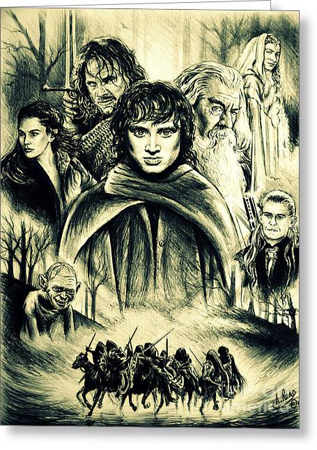 The Fellowship Greeting Card by Andrew Read