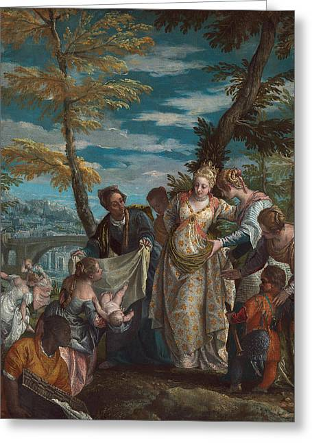 The Finding Of Moses Greeting Card by Paolo Veronese